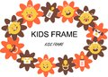 Flower Baby Frame Label Stock Images