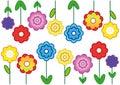 Flower background, cheerful flowering wallpaper