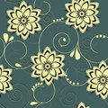 Flower background grey seamless floral pattern with white flowers Royalty Free Stock Photography
