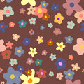 Flower Background seamless floral pattern Royalty Free Stock Photo