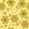Flower background seamless light green pattern Royalty Free Stock Photos