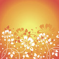 Flower background vector summer with flowers Royalty Free Stock Photography