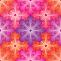 Flower ball effect seamless pattern Royalty Free Stock Photo
