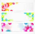 Flower banners Royalty Free Stock Photo