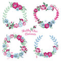 Flower banners and tags for your design scrapbook in vector Royalty Free Stock Photos