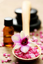 Flower bath salt Stock Photo