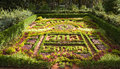 Flower bed calendar in pleasure resort kislovodsk caucasus russia Stock Image