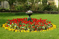Flower Bed in a Formal Garden Royalty Free Stock Photo