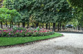Flower bed in Luxembourg Garden, Paris, France Royalty Free Stock Photo