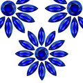 Flower blue gems Royalty Free Stock Photo