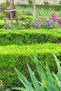 Flower border french style tuileries garden a photograph showing some beautiful gardens flowering plants in purple and green theme Stock Photos