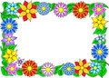Flower border vector illustration of a colorful Stock Photos