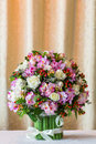 Flower bouquet close up beautiful on table Stock Photo