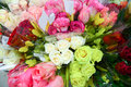 Flower bouquet with a lot of different flowers Royalty Free Stock Photo
