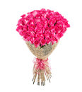 Flower bouquet of 50 pink roses Royalty Free Stock Photo