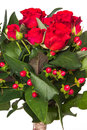 Flower bouquet from red roses Royalty Free Stock Photo