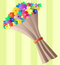 Flower bouquet for valentines day colorful or other celebration Stock Photography