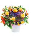 Flower bouquet in vase isolated Stock Photography