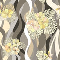 Flower bouquets seamless background floral pattern floral wavy texture with apple tree flowers Stock Image