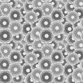 Flower buds grayscale seamless pattern of vector illustration Stock Photography