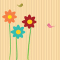 Flower card Stock Photography