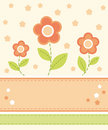 Flower card design Royalty Free Stock Image