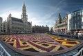 Flower carpet in Brussels, Belgium Royalty Free Stock Photo