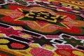Flower carpet in brussels belgium designed from begonias Stock Photo