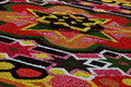 Flower carpet in brussels belgium designed from begonias Royalty Free Stock Photo