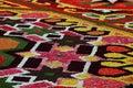 Flower carpet in brussels belgium designed from begonias Royalty Free Stock Photos