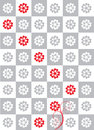 Flower chess abstract background in red white and grey Stock Photo