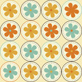 Flower in a circle seamless pattern Stock Images