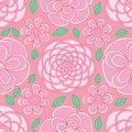 Flower circle shape visible pastel pink color seamless pattern Royalty Free Stock Photo