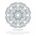 Flower circular background. Mandala. Stylized lace ornament. Indian floral ornament. Beautiful lacy tablecloth, doily.