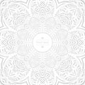 Flower circular background. A stylized drawing. Mandala. Stylized lace ornament. Indian floral ornament.