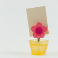 Flower clip card colorful magnet Stock Photo