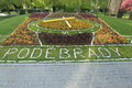 Flower clock in podebrady czech republic Stock Photography