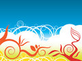Flower color background Stock Photos