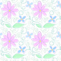 Flower coloured pencil pattern Stock Image