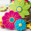 Flower cookies Stock Photos