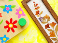 Flower crafts hobby Royalty Free Stock Image