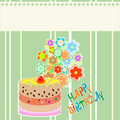 Flower cute frame design with cupcake. vector Royalty Free Stock Images