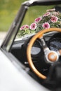 Flower decoration wedding car Royalty Free Stock Photo