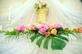 Flower decoration of wedding table Royalty Free Stock Photography