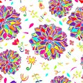 Flower decorative background multicolored vector illustration eps Royalty Free Stock Image