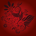 Flower decorative design vector Royalty Free Stock Images