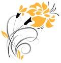 Flower decorative element. Vector Stock Photos