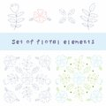 Flower design element Royalty Free Stock Photo