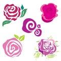 Flower design elements Royalty Free Stock Photo