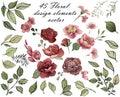 Flower Design elements. Spring bouquet of flowers